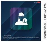 user info icon | Shutterstock .eps vector #1104064196