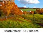 Autumn Landscape Of Green...