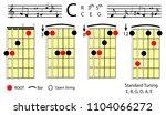 guitar chords.c major chord...   Shutterstock .eps vector #1104066272