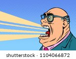 angry boss yells. comic book... | Shutterstock .eps vector #1104066872