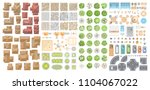vector set for a cityscape. top ... | Shutterstock .eps vector #1104067022