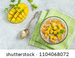 chia pudding with coconut milk  ... | Shutterstock . vector #1104068072