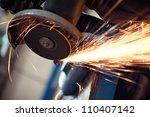grinding metal | Shutterstock . vector #110407142