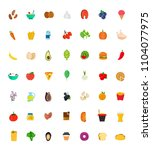 49 food and drink icon set. ... | Shutterstock . vector #1104077975