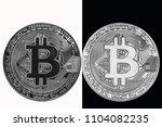 bitcoin is the yin yang. white... | Shutterstock . vector #1104082235