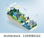 illustration vector isometric... | Shutterstock .eps vector #1104086162
