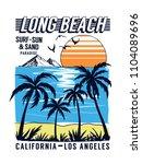 california  los angeles beach... | Shutterstock .eps vector #1104089696