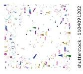trendy xmas party tinsel vector ... | Shutterstock .eps vector #1104091202