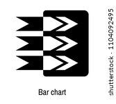bar chart icon vector isolated... | Shutterstock .eps vector #1104092495
