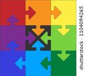 frame  puzzle  order | Shutterstock .eps vector #1104094265