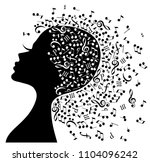 music in the head. | Shutterstock .eps vector #1104096242