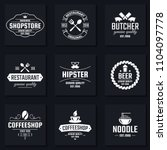 vintage retro vector logo for... | Shutterstock .eps vector #1104097778