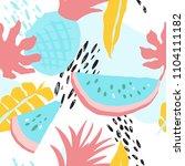 minimal summer trendy vector... | Shutterstock .eps vector #1104111182