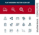 modern  simple vector icon set...   Shutterstock .eps vector #1104119192