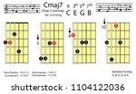 guitar chords.c major7 drop2...   Shutterstock .eps vector #1104122036