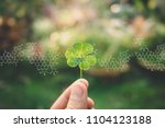 plants background with... | Shutterstock . vector #1104123188