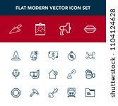 modern  simple vector icon set...   Shutterstock .eps vector #1104124628