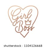 girl boss quote with handdrawn ... | Shutterstock .eps vector #1104126668