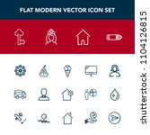 modern  simple vector icon set...   Shutterstock .eps vector #1104126815