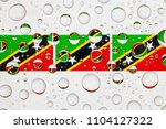 flags  of saint kitts and nevis ... | Shutterstock . vector #1104127322