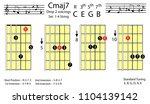 guitar chords.c major7 drop2...   Shutterstock .eps vector #1104139142