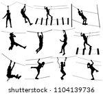 extreme sportsman took down... | Shutterstock .eps vector #1104139736