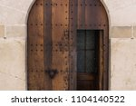 house facade with old wooden... | Shutterstock . vector #1104140522