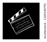 contour clapper board video... | Shutterstock .eps vector #1104140792