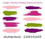 isolated label brush stroke... | Shutterstock .eps vector #1104141635