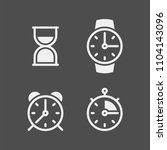clock flat vector icons set.... | Shutterstock .eps vector #1104143096