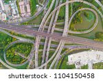 aerial view 8 sign transport...   Shutterstock . vector #1104150458