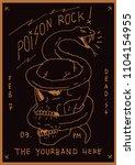poison rock gig poster flyer... | Shutterstock .eps vector #1104154955