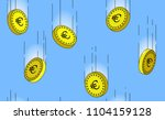 euro gold coins falling in the...   Shutterstock .eps vector #1104159128
