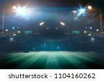 lights at night and stadium 3d... | Shutterstock . vector #1104160262