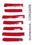 red vector brush strokes... | Shutterstock .eps vector #110416658
