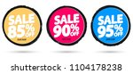 set sale tags  discount banners ...   Shutterstock .eps vector #1104178238