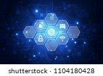 technology interface future... | Shutterstock .eps vector #1104180428