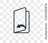 page turn vector icon isolated... | Shutterstock .eps vector #1104182876