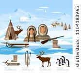 wild north arctic infographic ... | Shutterstock .eps vector #1104183965