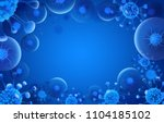 bacteria blue background. virus ... | Shutterstock .eps vector #1104185102