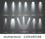 beam of floodlight  space... | Shutterstock .eps vector #1104185108