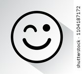 winks icon. smiley icon with... | Shutterstock .eps vector #1104187172