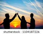 young adult summer beach party... | Shutterstock . vector #1104187226