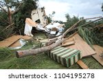Destroyed House After Passing ...