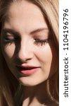 beautiful blonde girl. portrait ...   Shutterstock . vector #1104196796