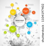 vector mind map template with...   Shutterstock .eps vector #1104197402