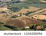 panoramic view of olive groves... | Shutterstock . vector #1104200096