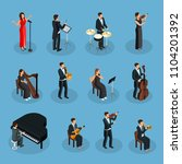 isometric people in orchestra... | Shutterstock .eps vector #1104201392