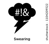 swearing icon vector isolated... | Shutterstock .eps vector #1104209522