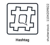 hashtag icon vector isolated on ... | Shutterstock .eps vector #1104209822